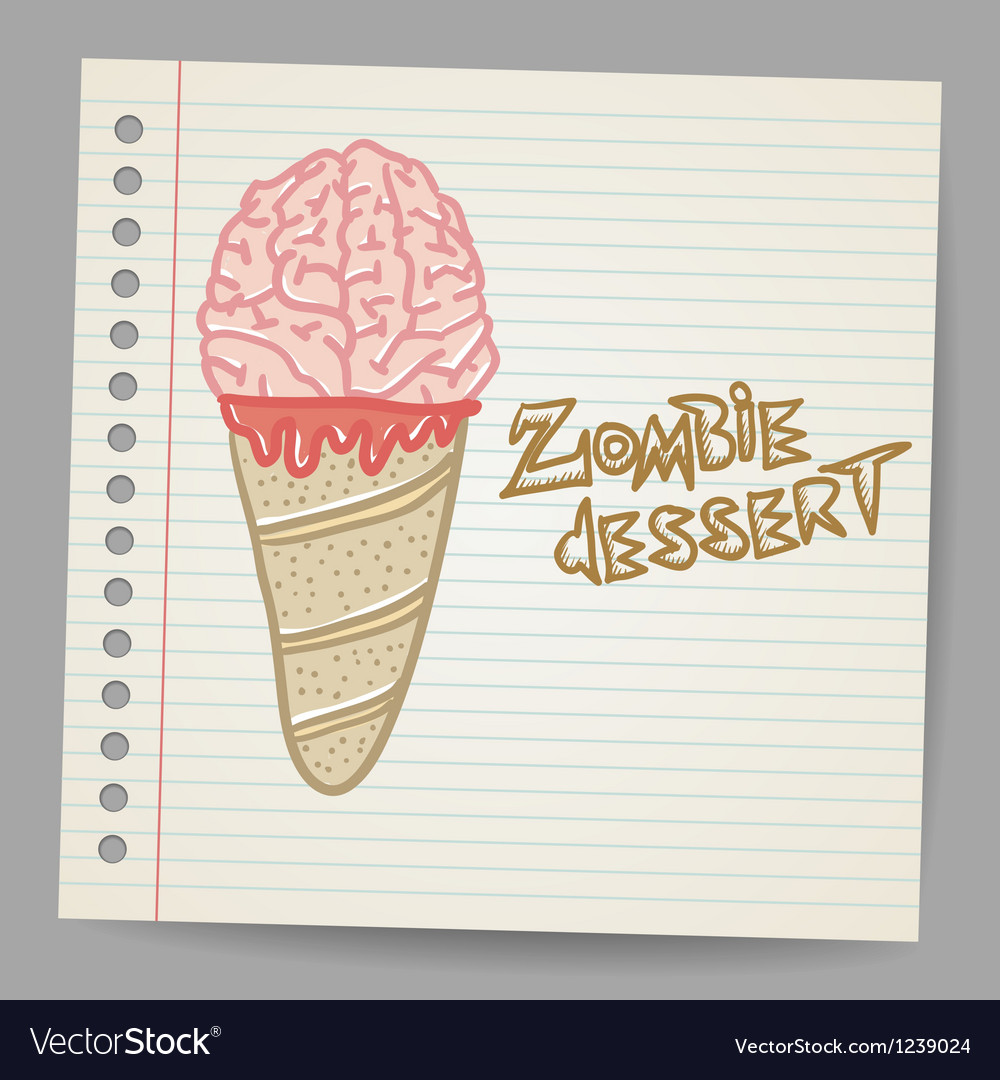 Doodle ice cream cone dessert