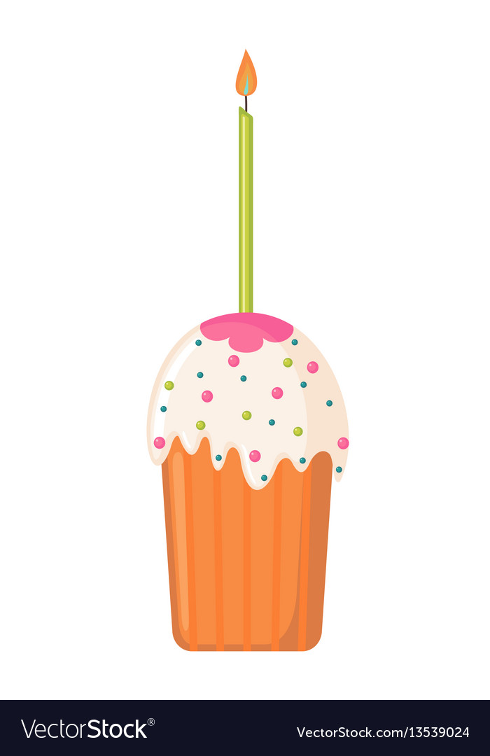 Easter cake icon in flat style vector image