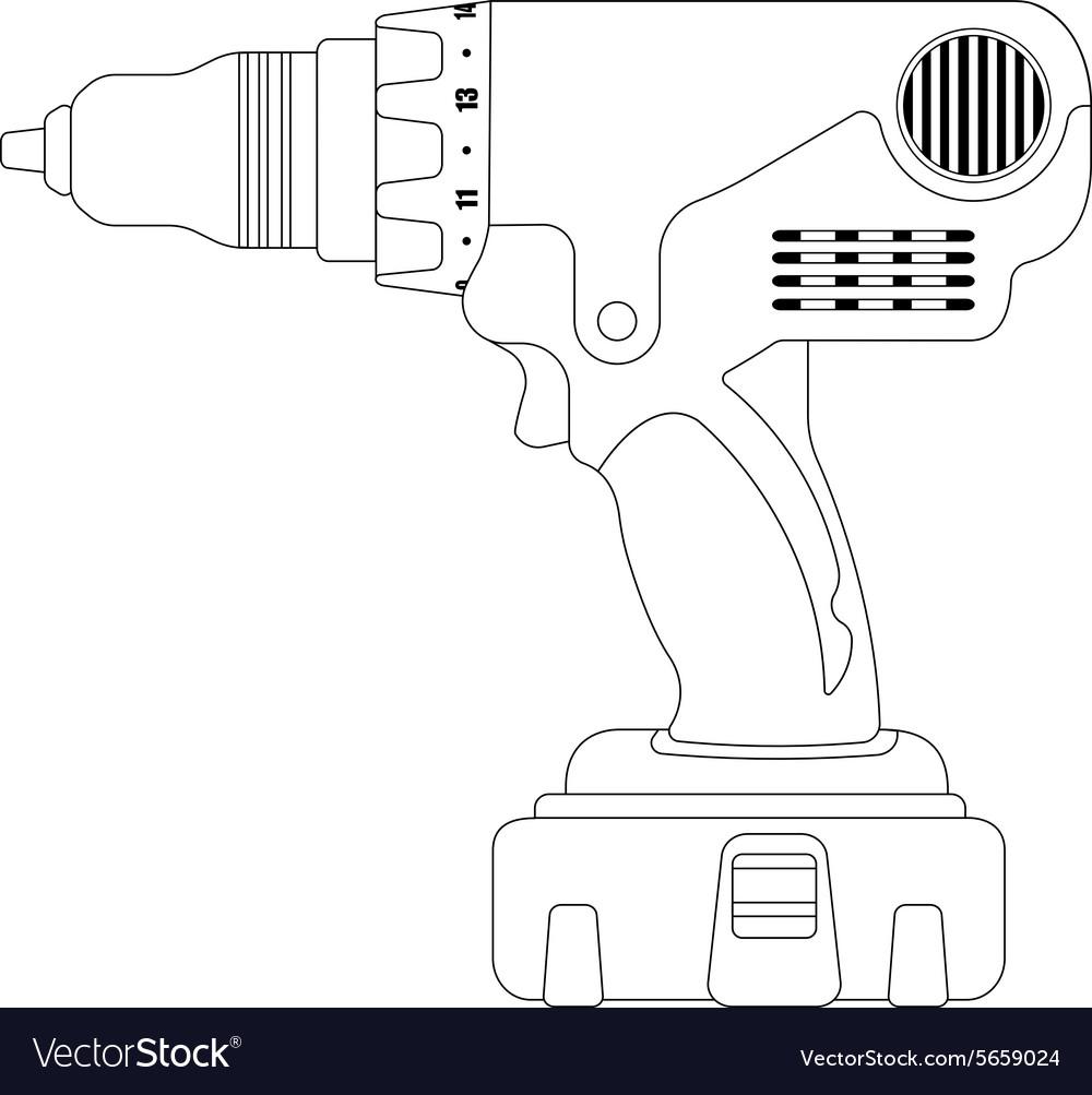 Electric drill contour