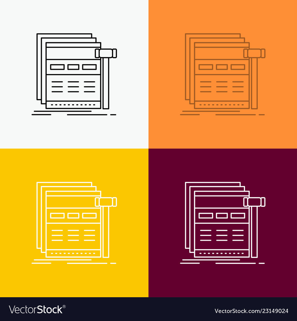 Internet page web webpage wireframe icon over