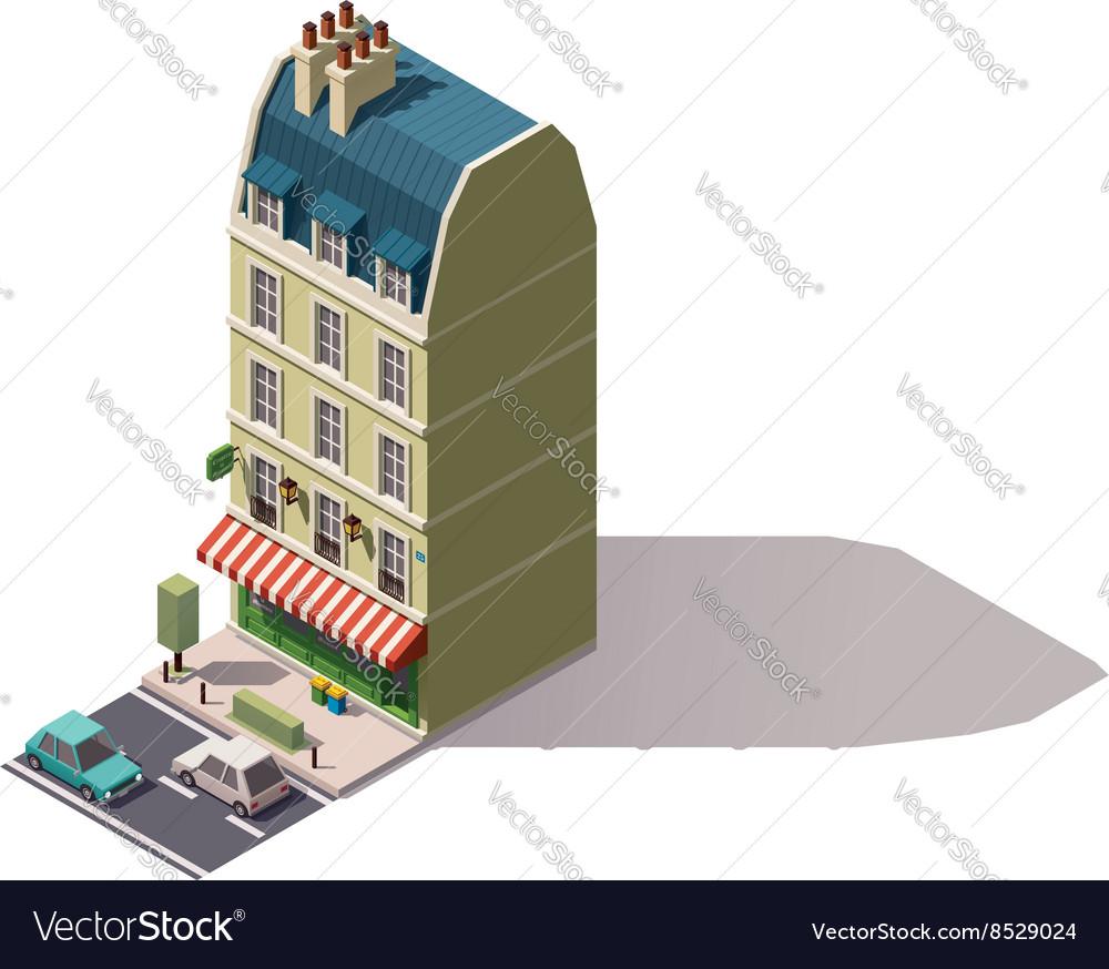 Isometric Paris building