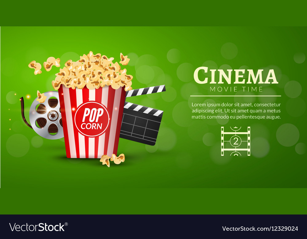 Movie Film Banner Design Template Cinema Concept Vector Image