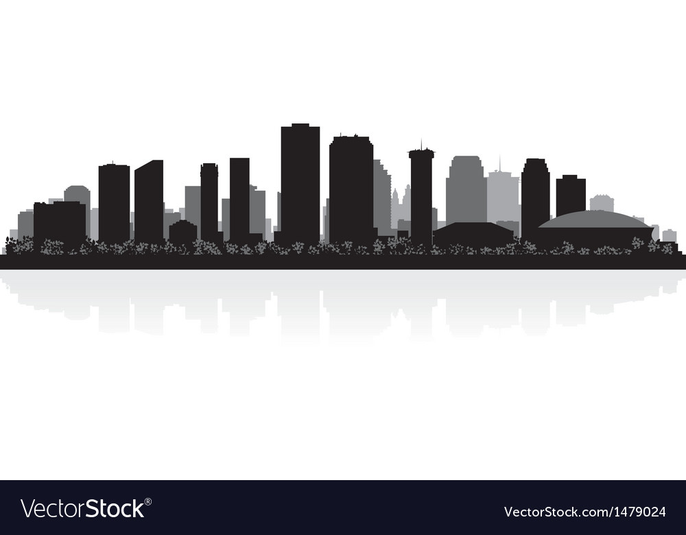New Orleans USA city skyline silhouette