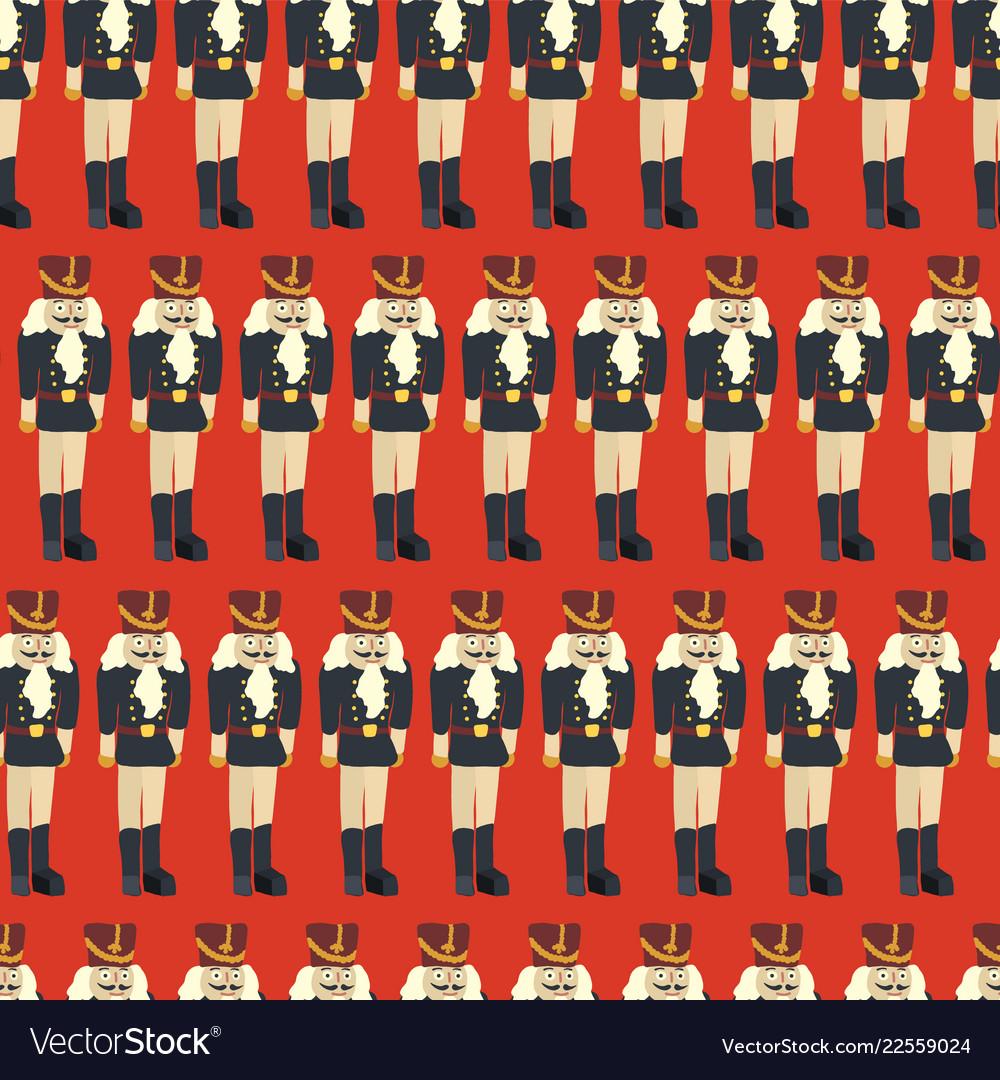 Nutcracker seamless christmas pattern tile