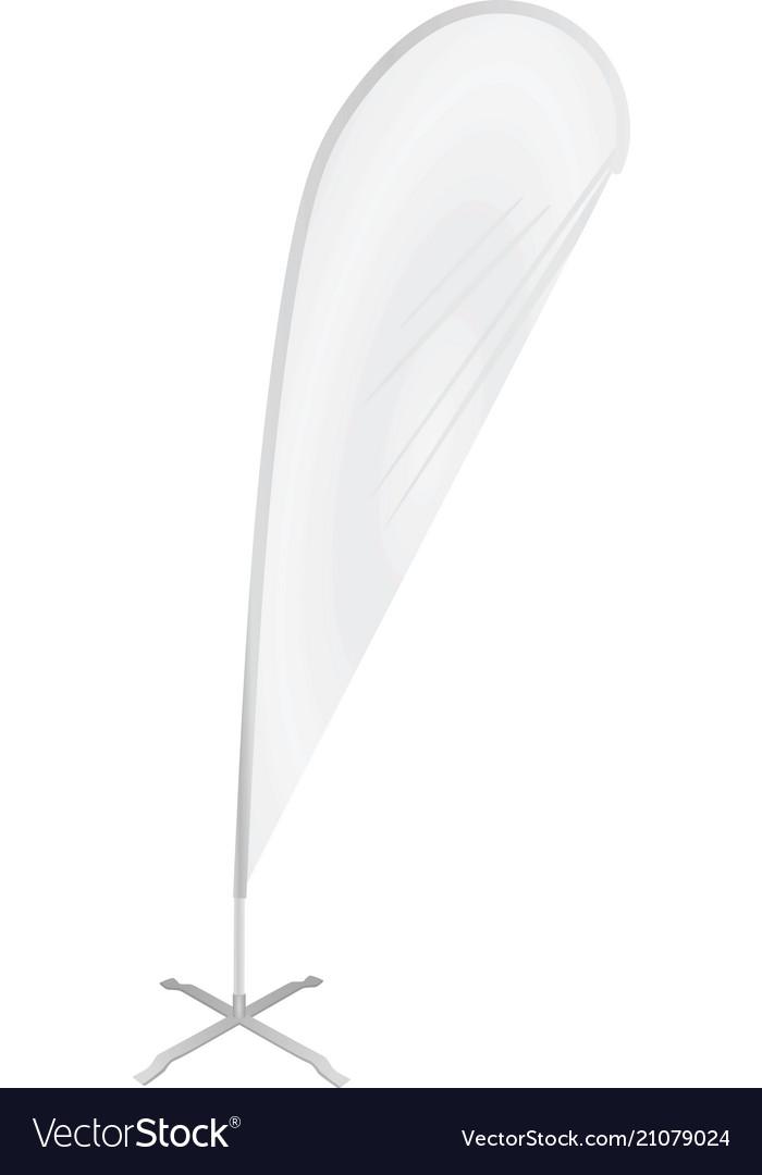White promo flag