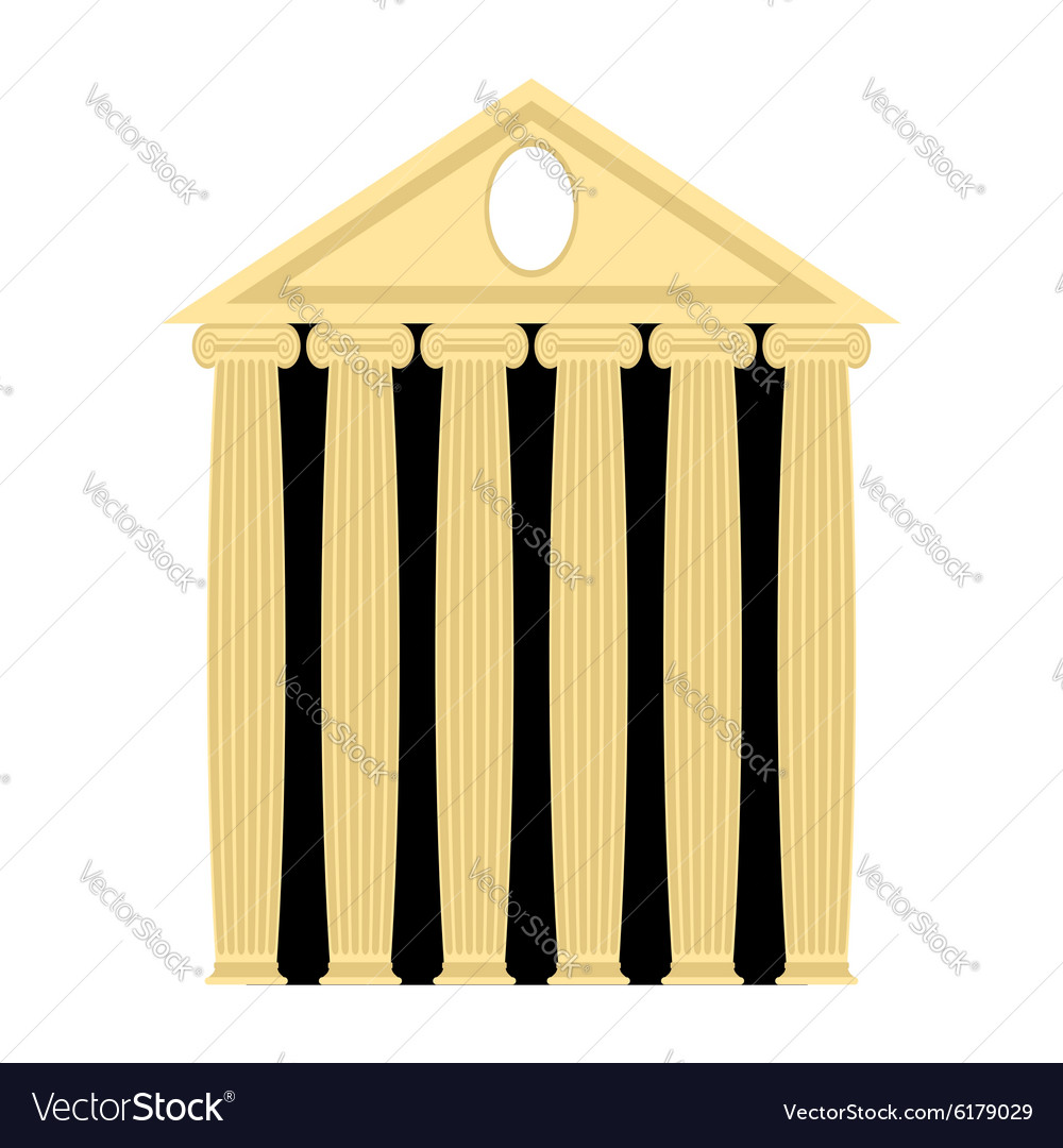 Ancient Greek temple Architecture with columns vector image