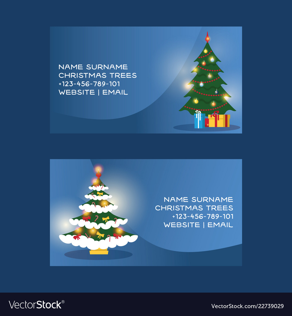 Christmas business card merry xmas visiting Vector Image