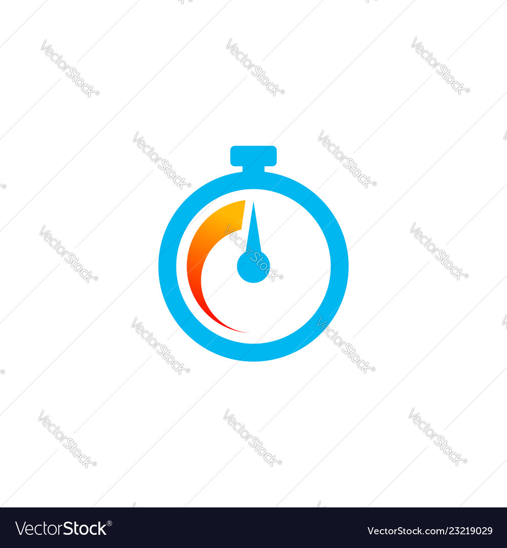 Fast time icon in minimalist style
