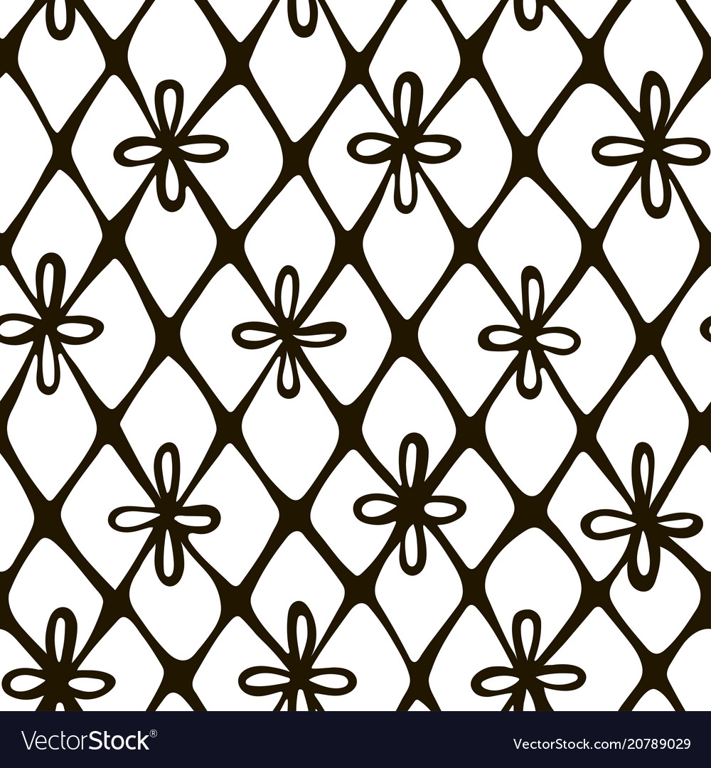 Lace hand drawn seamless pattern