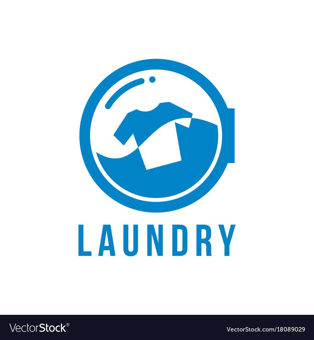laundry logo royalty free vector image vectorstock vectorstock