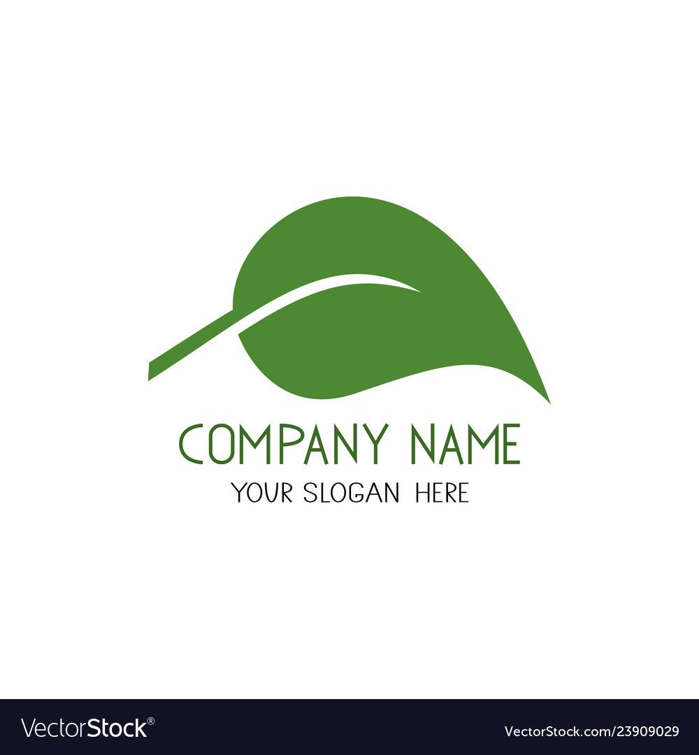 Leaf icon eco and bio logo