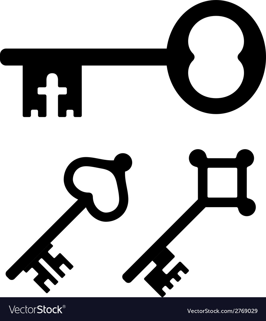 Medieval key symbols