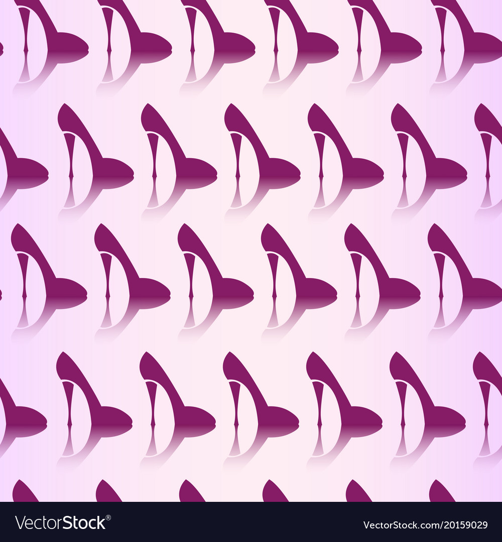Seamless pattern of high heel shoes fashionable