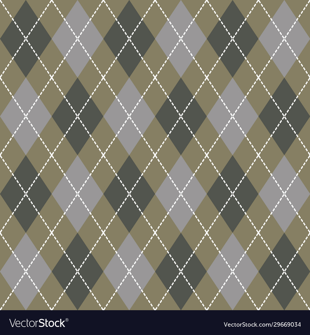 Beige gray and white seamless argyle pattern