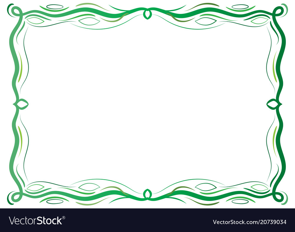 Green antique frame with laces