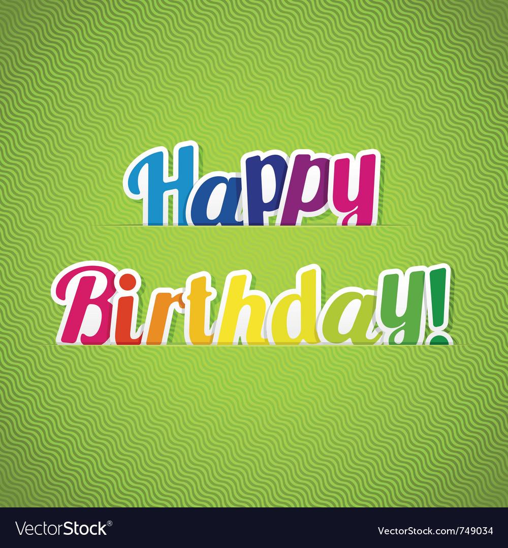 Happy birthday card vector 749034 by Laralova | Royalty