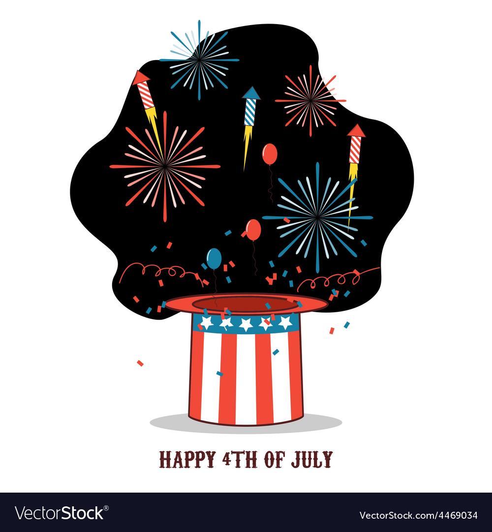 Isolated cartoon celebration of america independen