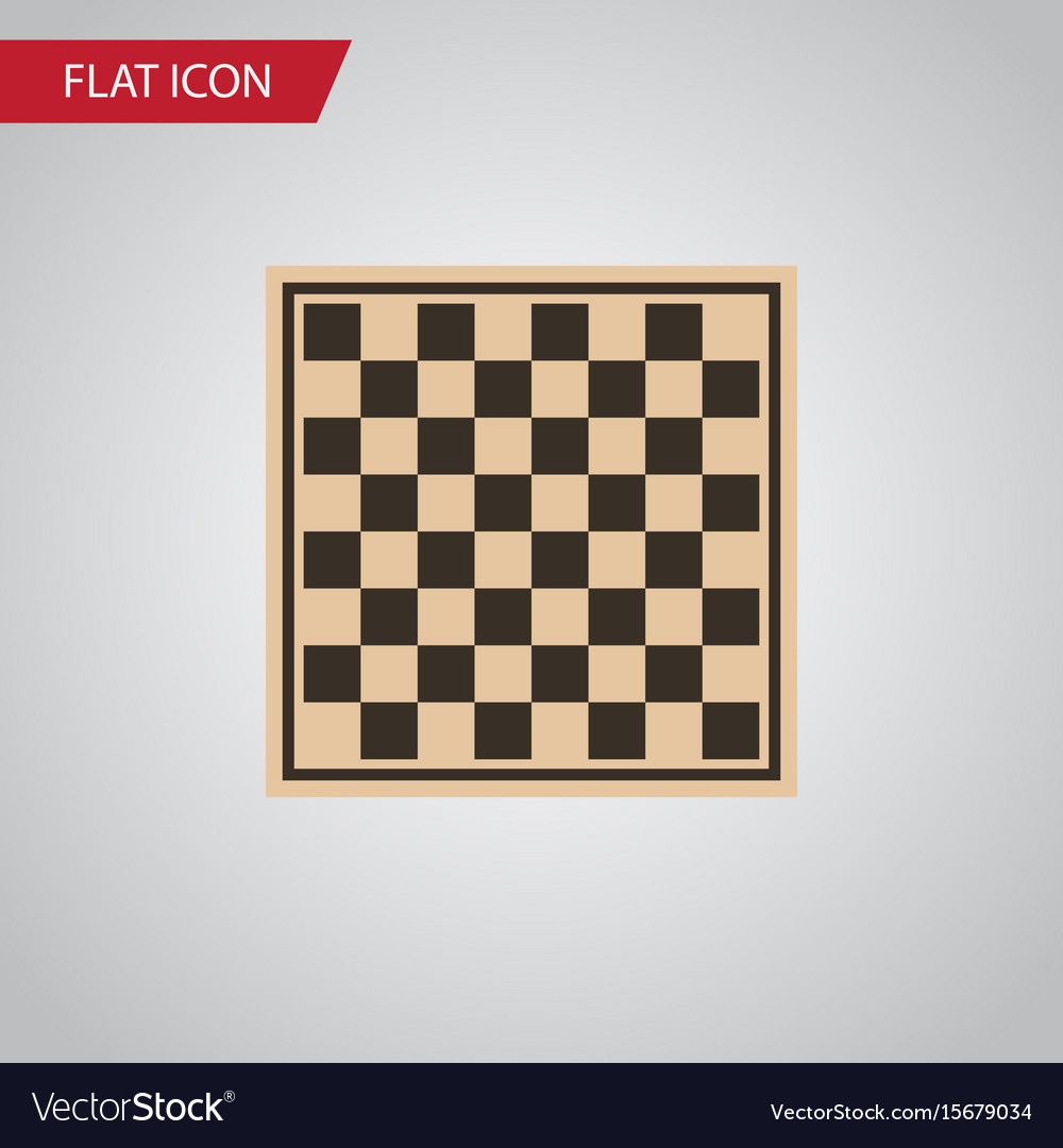 Isolated checkerboard flat icon chess table
