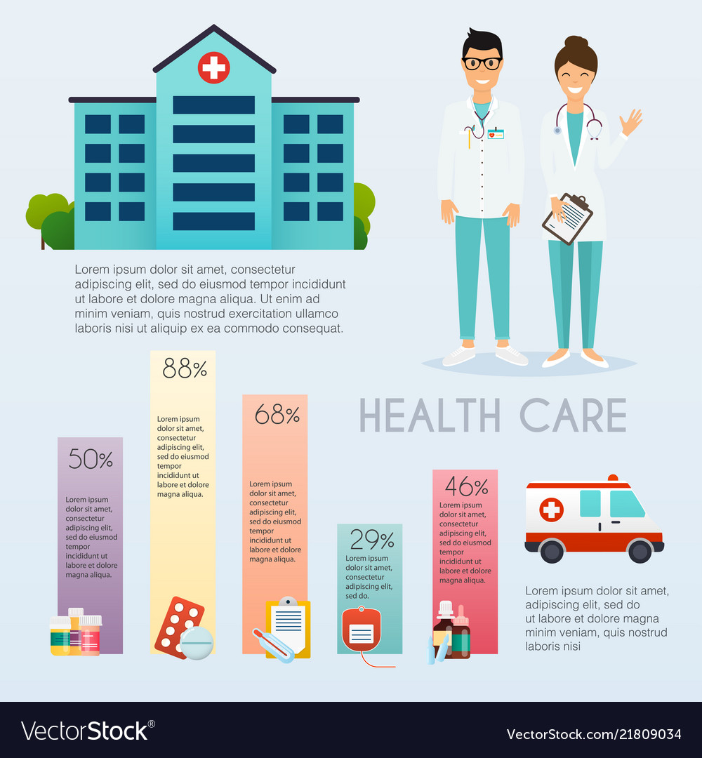Medical infographic flat design style modern