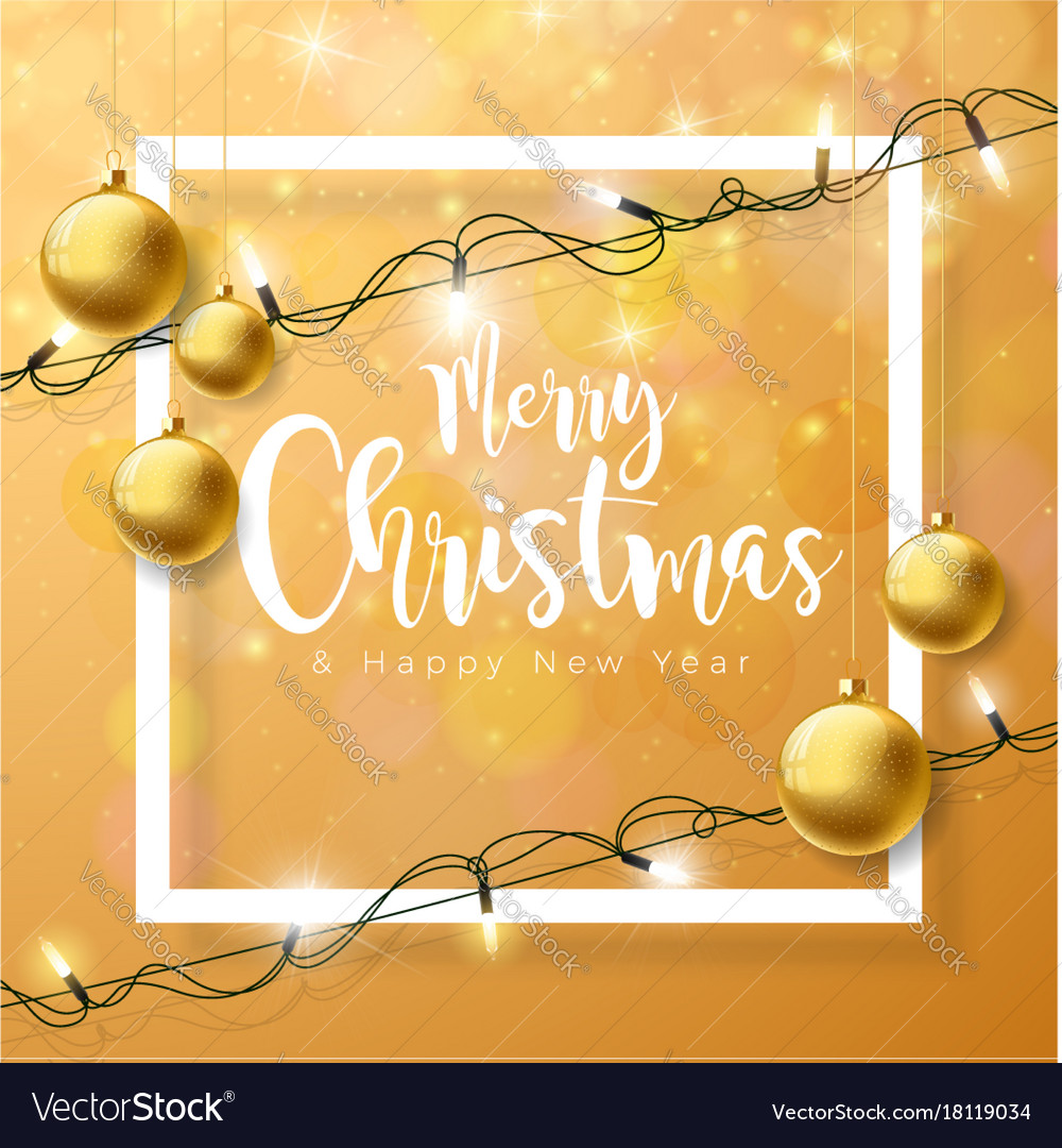 Merry christmas on brown