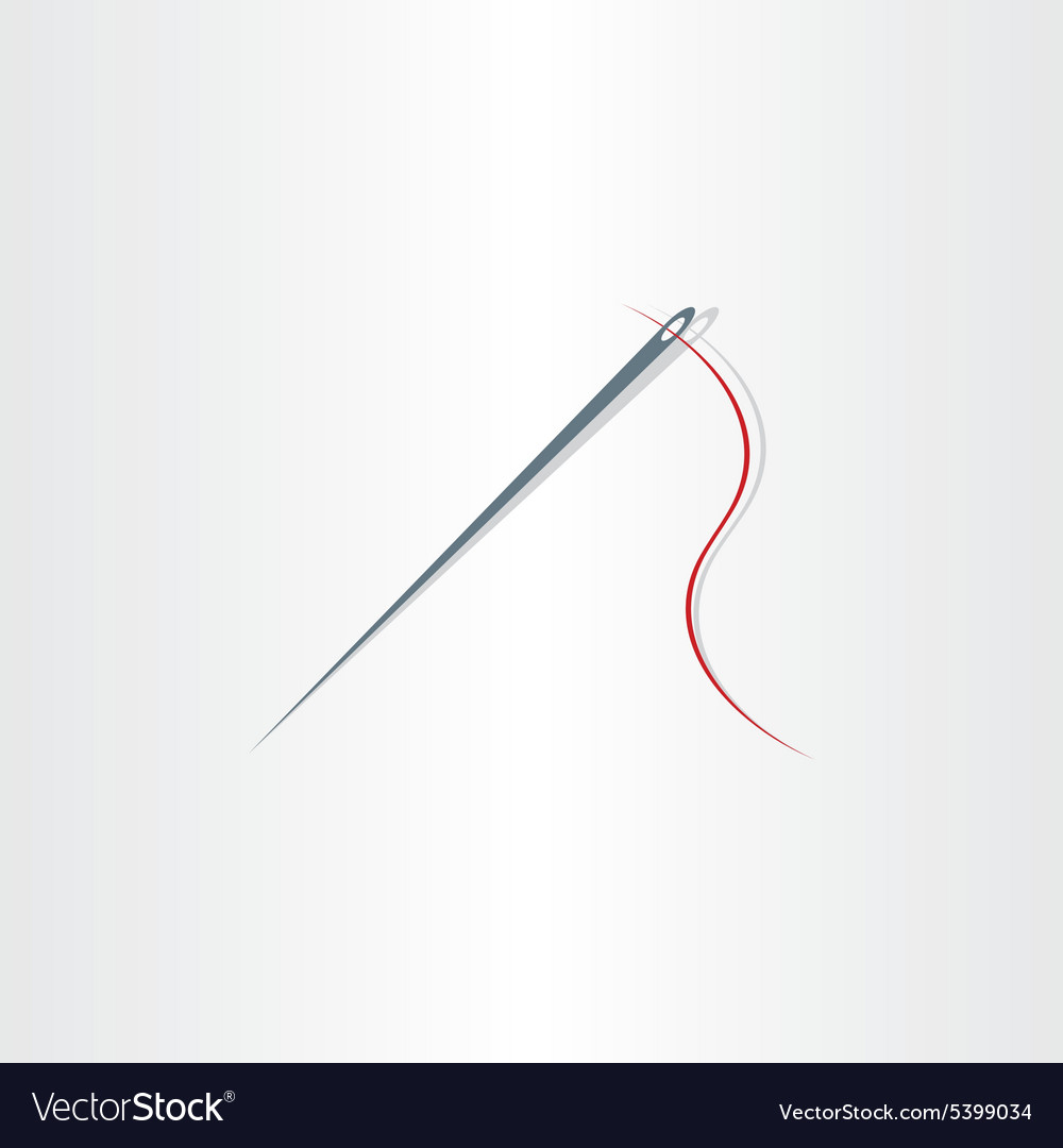 Needle icon design element