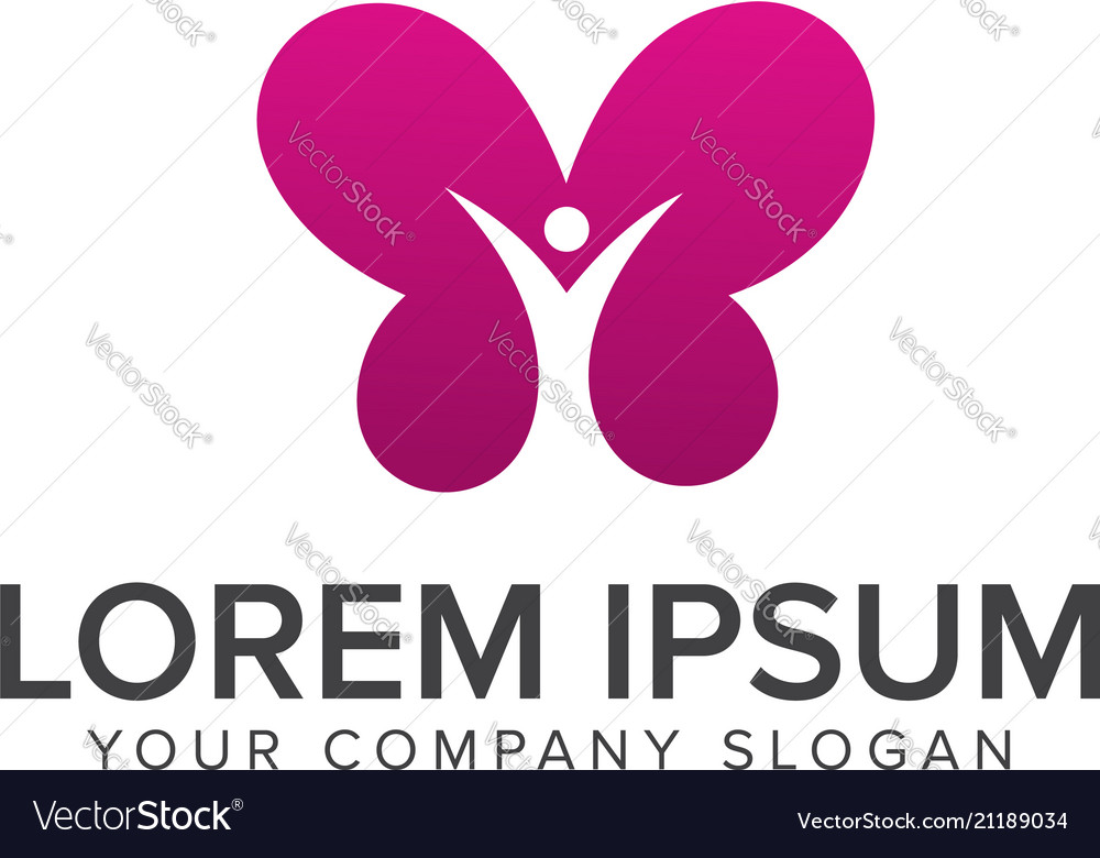 People butterfly logos spa and esthetics
