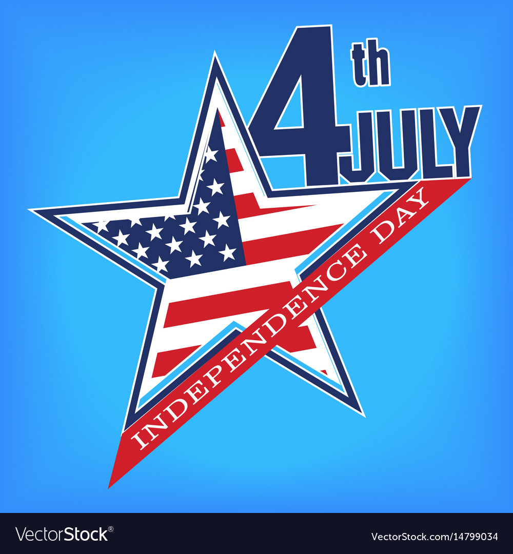 Symbol Of July 4 Independence Day Royalty Free Vector Image