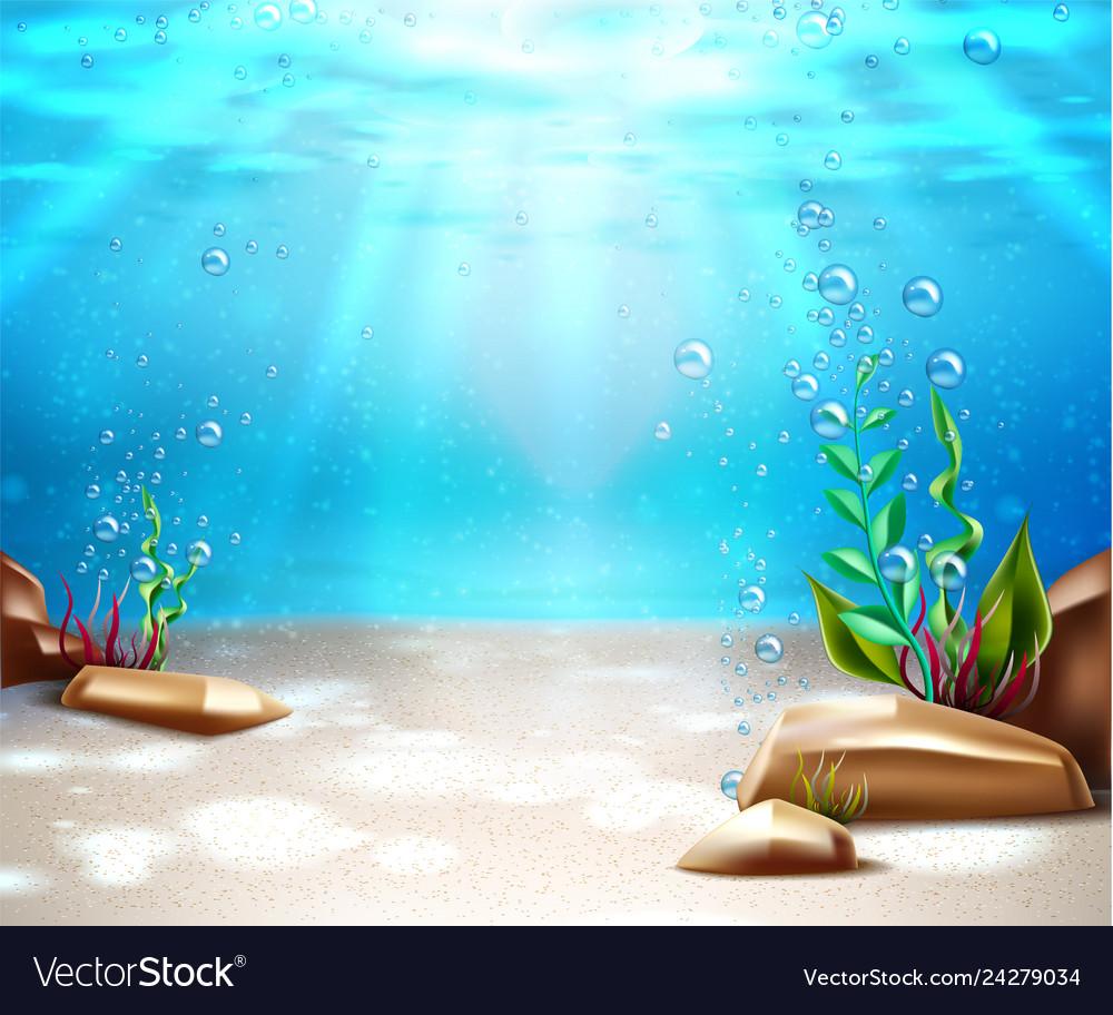 Underwater life sea bottom scene background