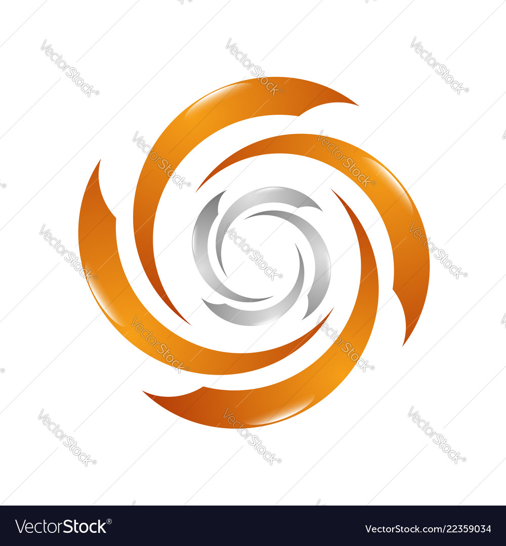 Wind turbine logo design template air