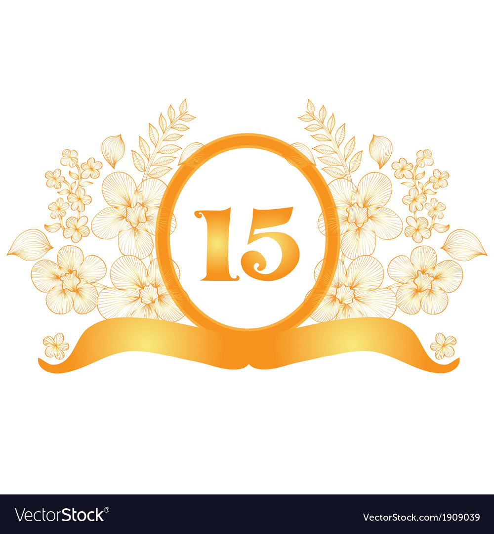 15th anniversary banner royalty free vector image