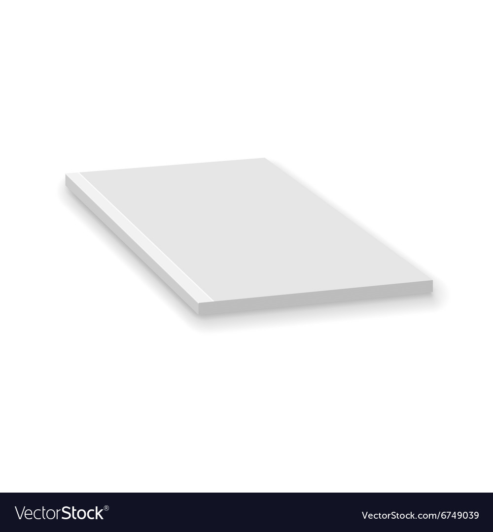 Blank Empty Magazine Or Paperback Book Template