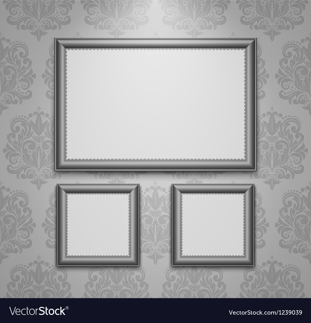 Empty frames on the wall Royalty Free Vector Image
