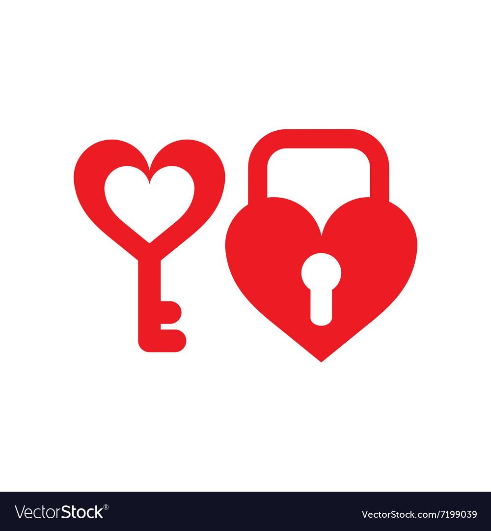 Heart key lock