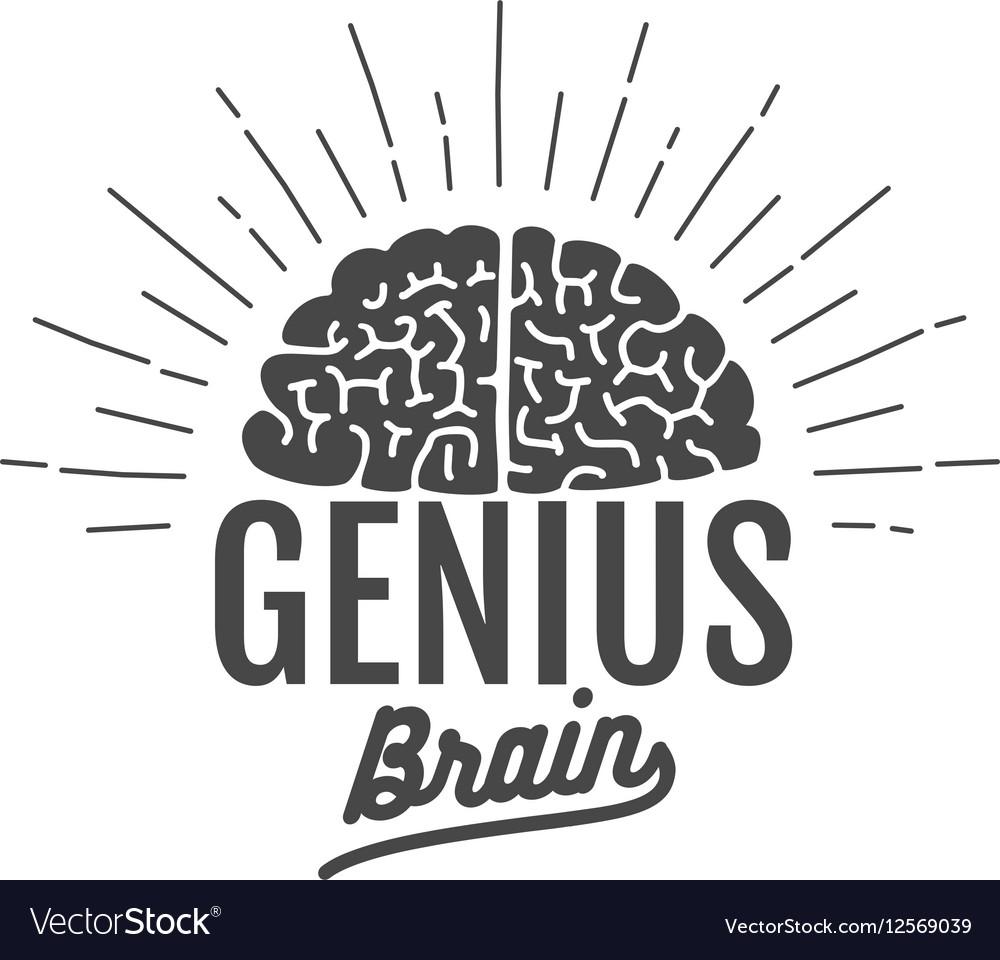 Genius brain logo