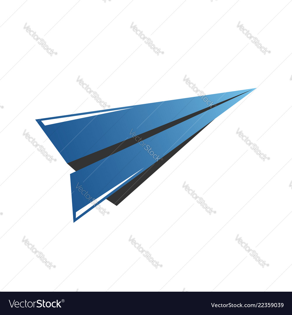 Icon of airplane wing in negative space travel