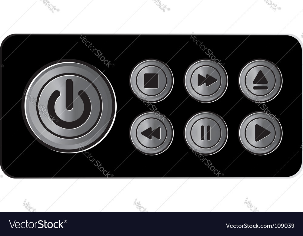 Player icons buttons metal