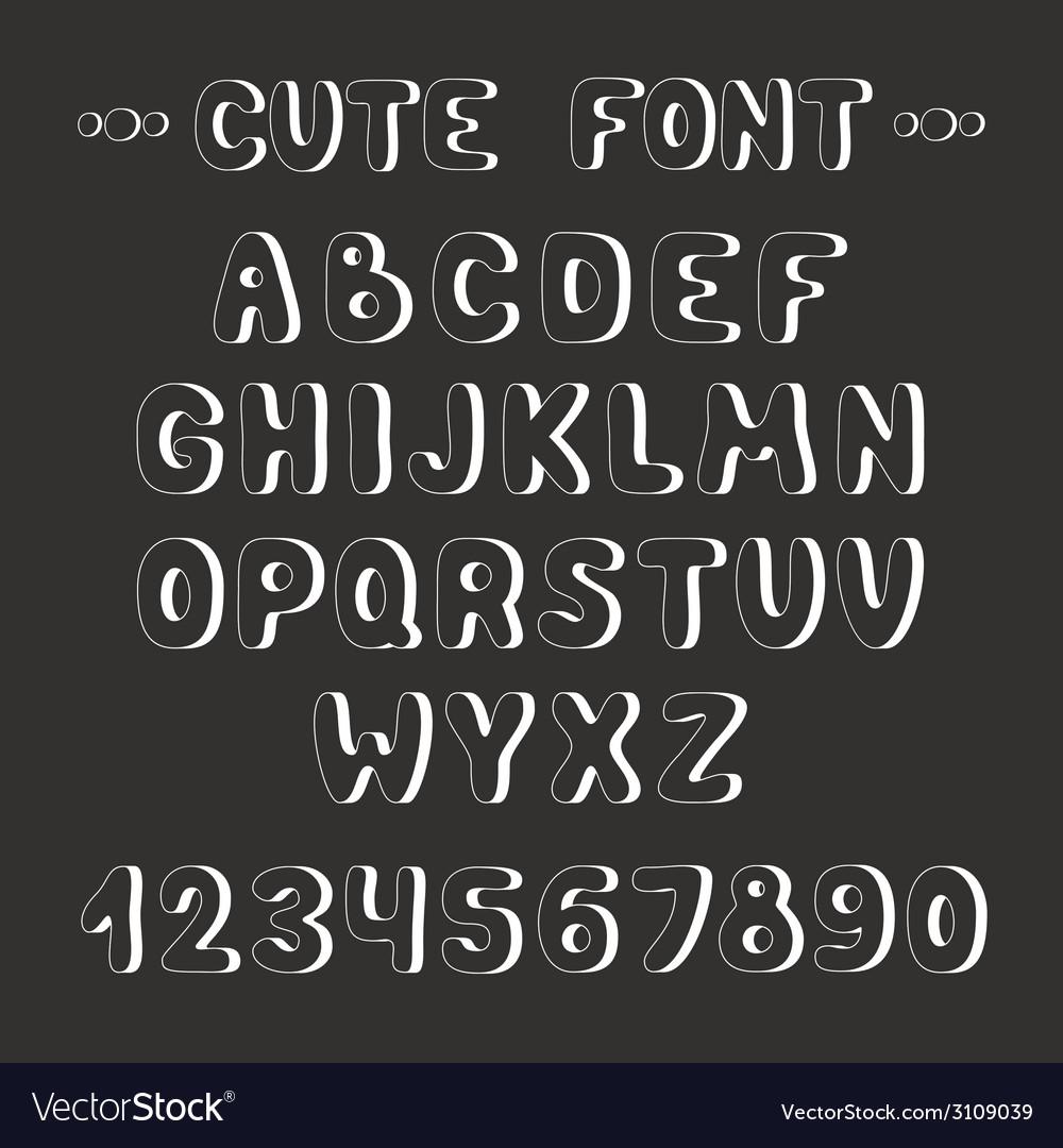 Simple Monochrome Hand Drawn Font Complete Abc