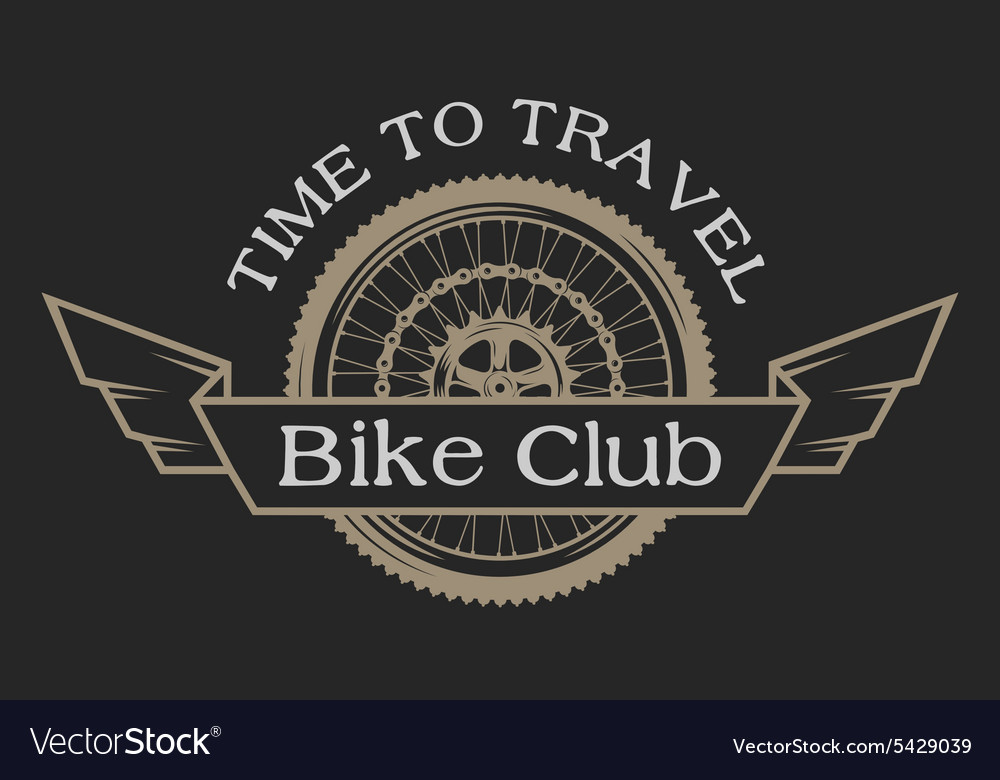 Vintage emblem on the topic cycling club