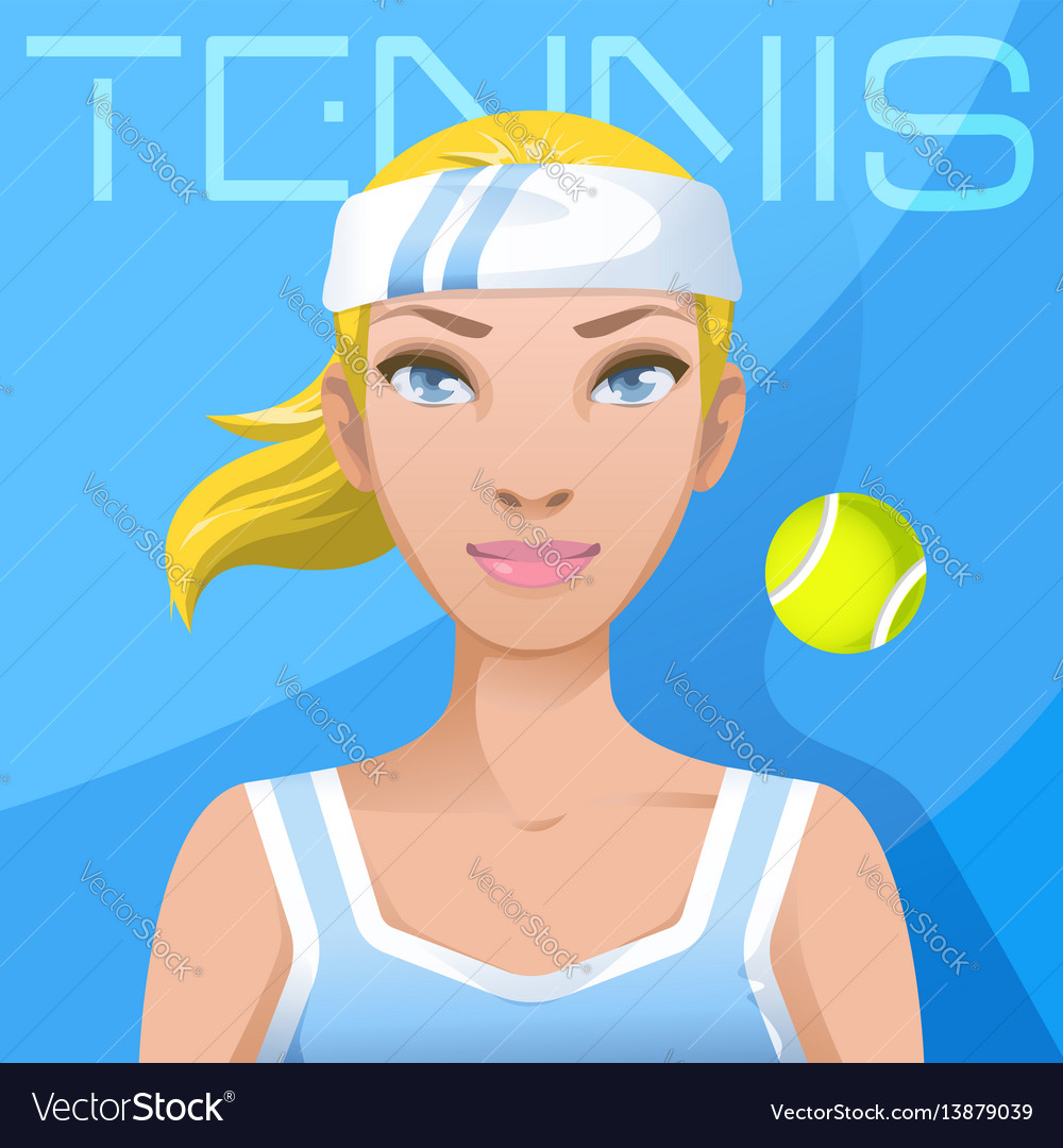 Young woman tennis player avatar sport active