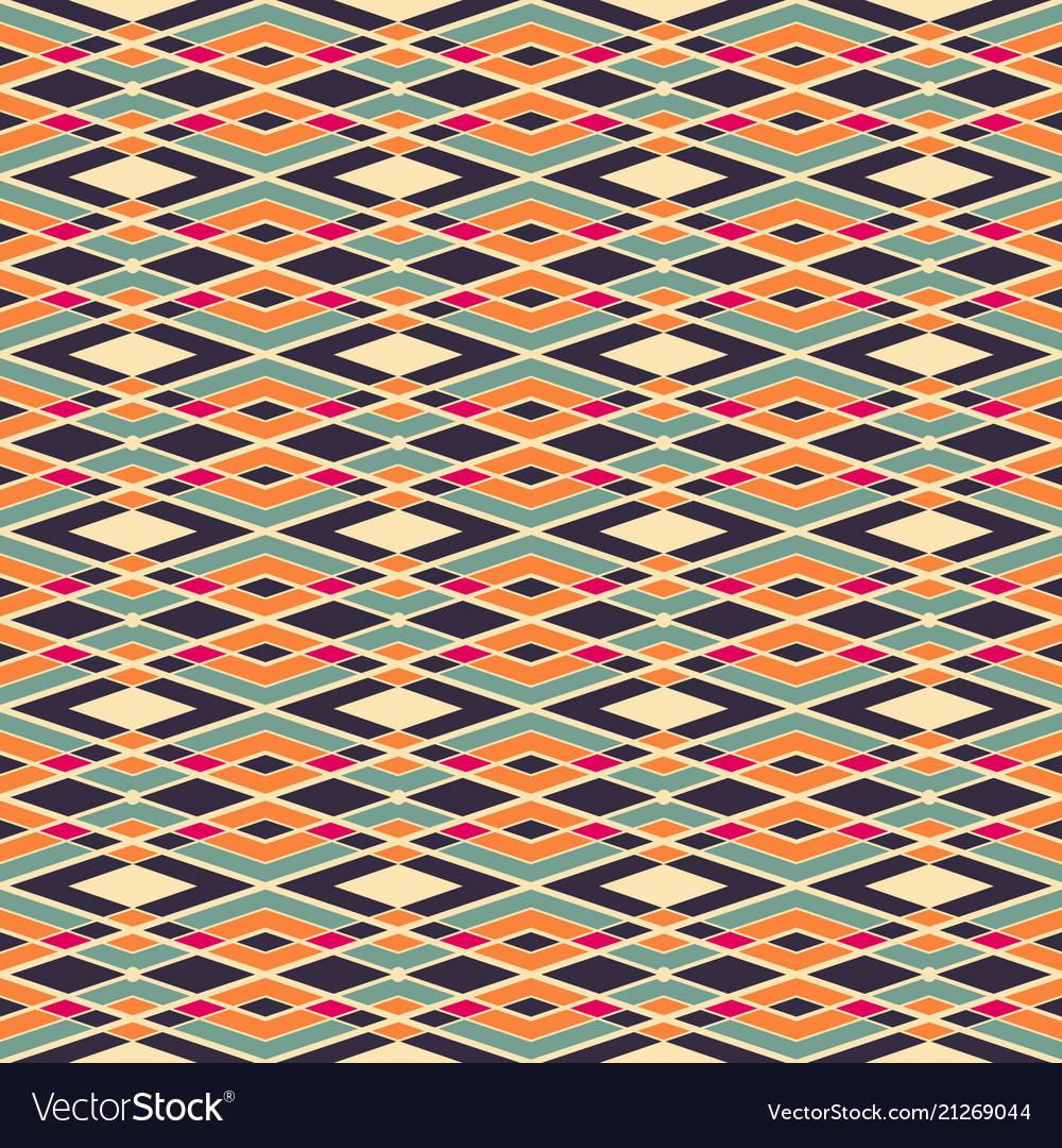 Abstract art geometric seamless pattern