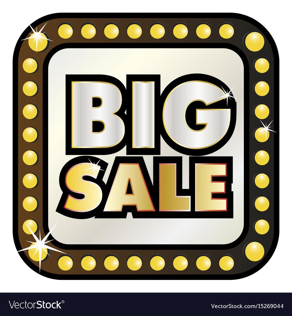 Big sale billboard banner retro style vector image
