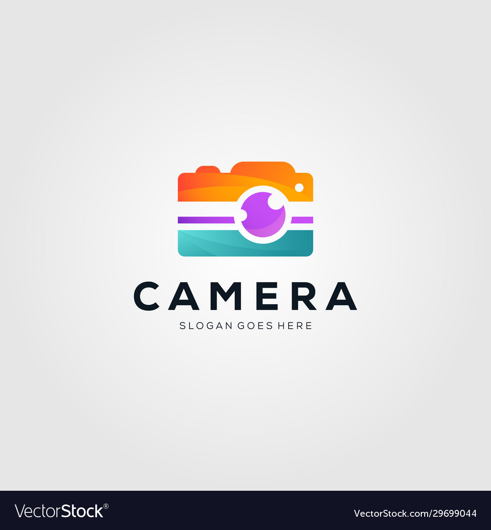Colorful camera photography logo design