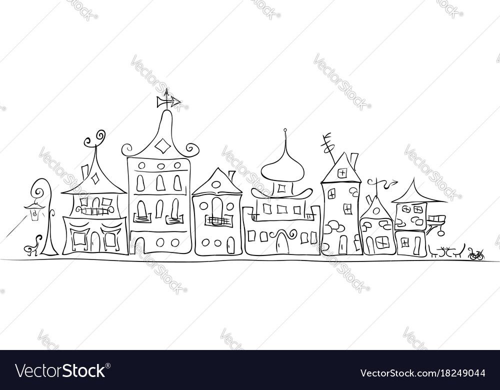 Cozy old city vector image
