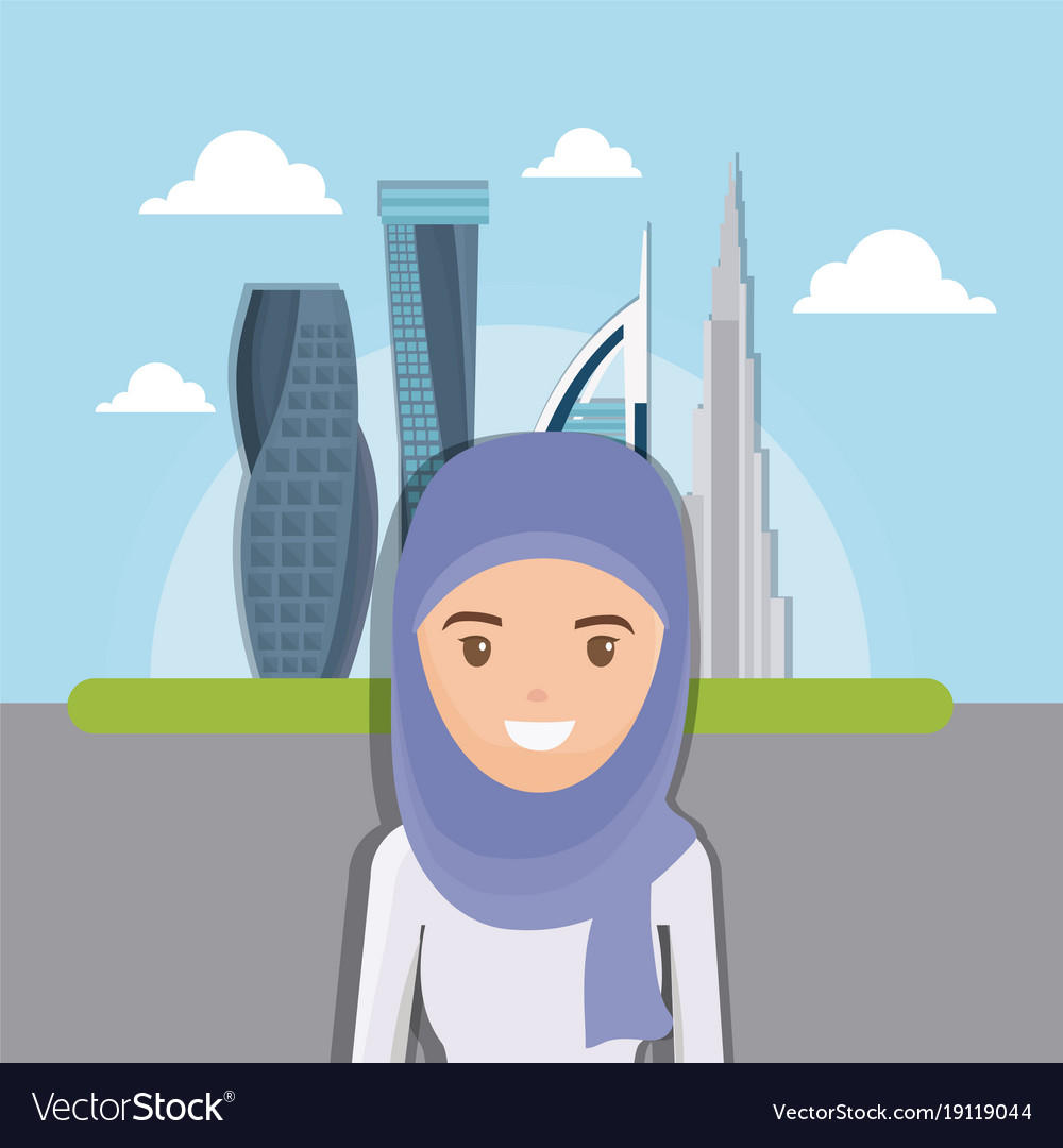 Dubai city modern building cityscape skyline with