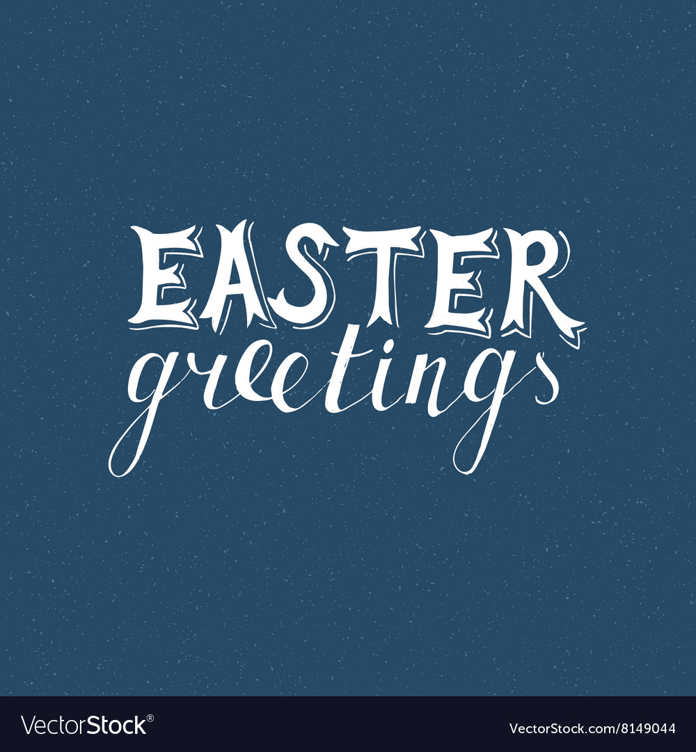 Easter hand drawn lettering