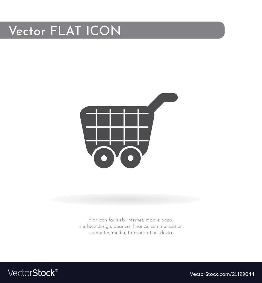 Food cart icon for web business finance and
