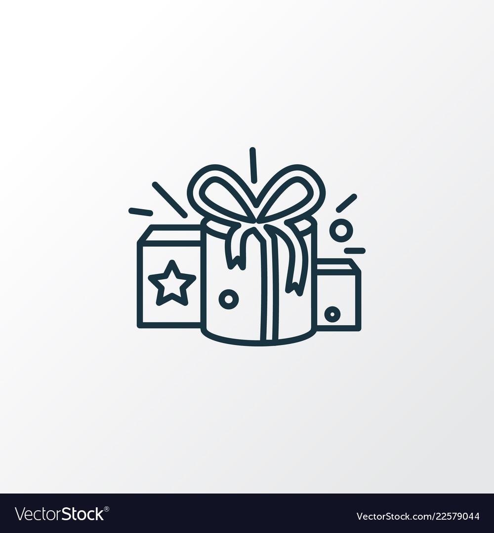 Gifts Icon Line Symbol Premium Quality Isolated Vector Image