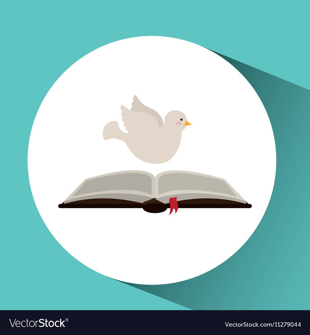 Holy spirit open bible icon religion design