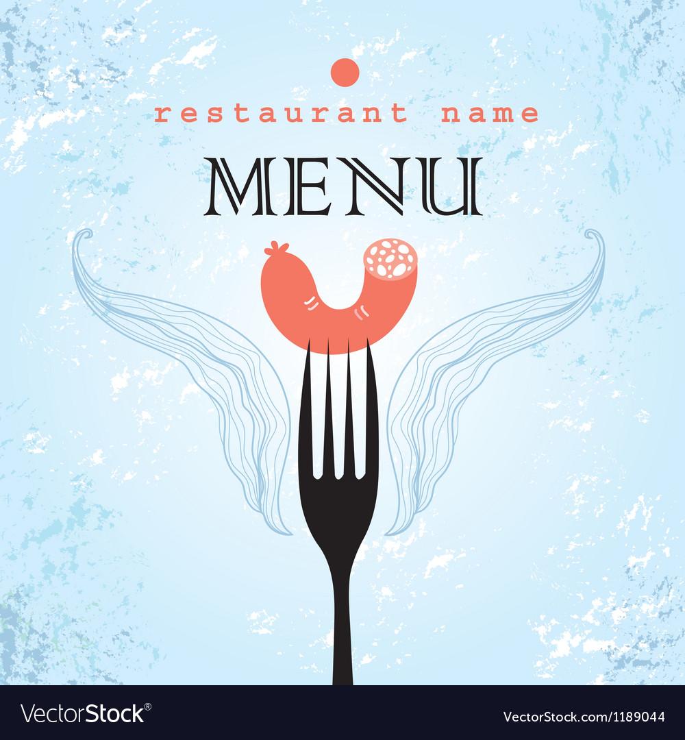 restaurant menu card design royalty free vector image