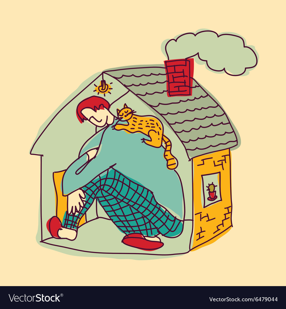 Small home young man color
